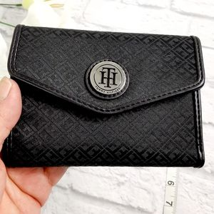 Tommy Hilfiger black canvas wallet